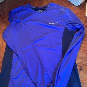 Nike Long Sleeve Dri Fit Running T-Shirt Sz S